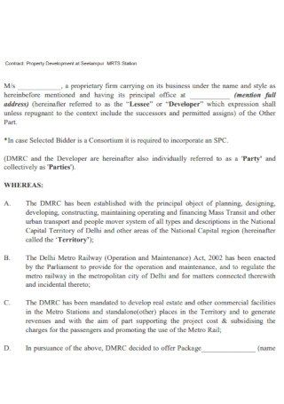 Company Property Contract Template
