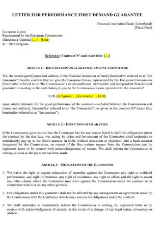 Contract Permission Demand Letter