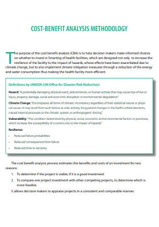 Cost Benefit Analysis Methodology Templates