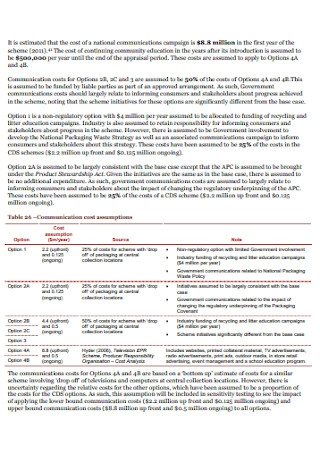 Cost Benfit Analysis Report Template