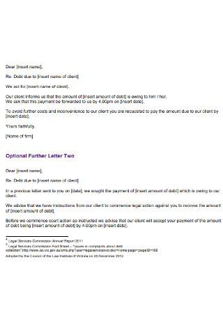Debt Legal Services Demand Letter