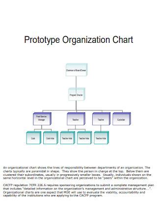 Detailed Prototype Organization Chart