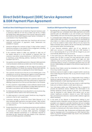 Direct Debit Payment Plan Agreement