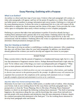 Essay Planning Outline Template