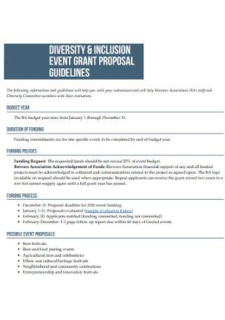 Event Grant Proposal