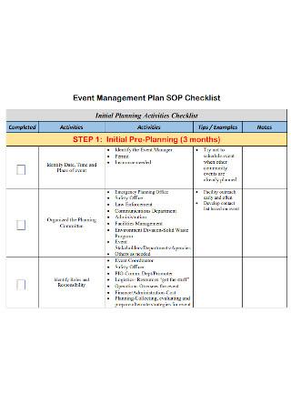 Event Management Planning Checklist