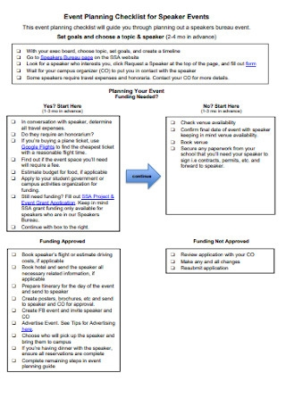 Event Planning Checklist for Speaker Events