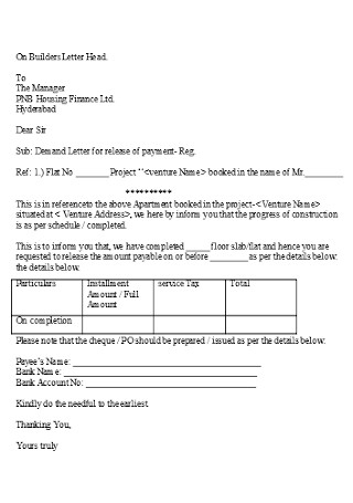 Final Builders Demand Letter
