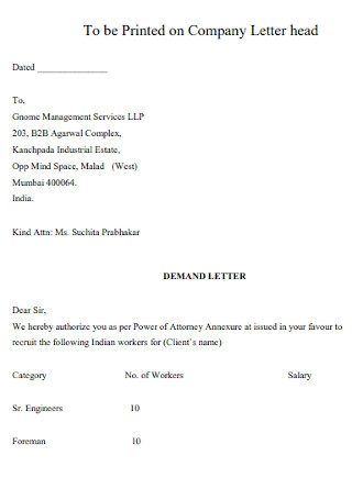 Final Company Demand Letter