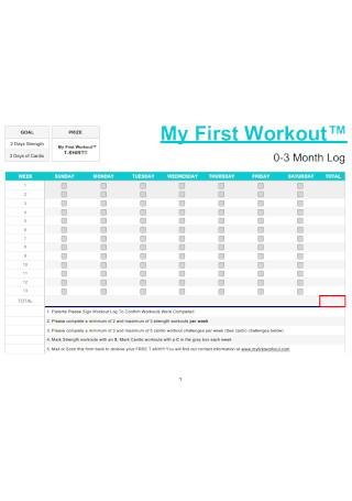 First Workout Log