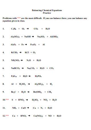 Formal Balancing Chemical Equations