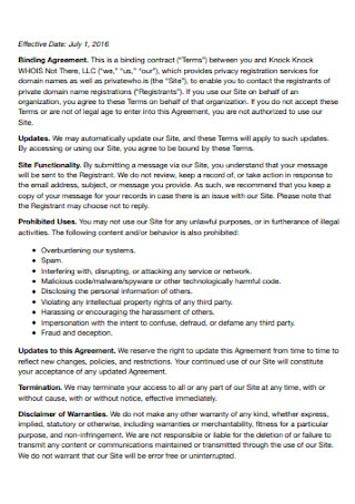 Formal Binding Agreement Template