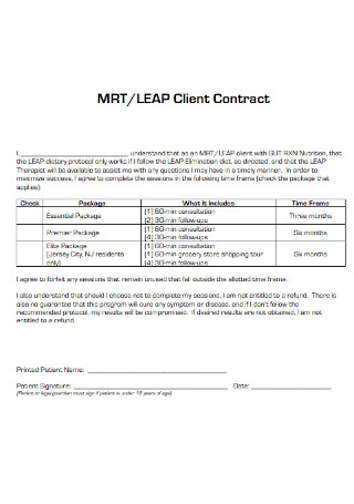 Formal Client Contract Template