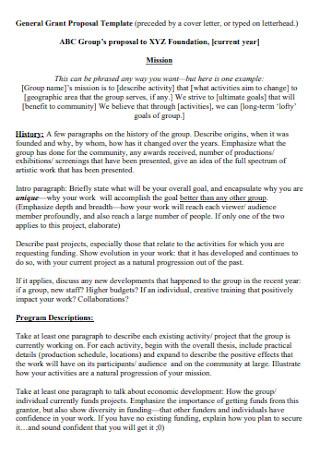 General Grant Proposal Template