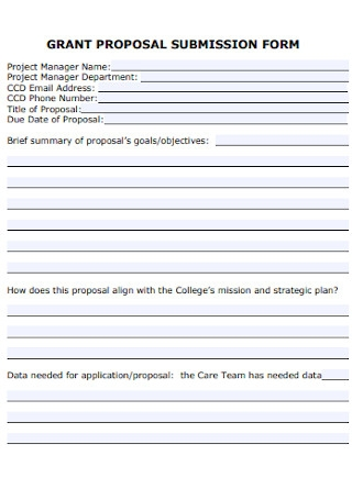 Grant Proposal Submission Form
