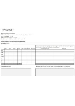 Health Staff Timeshhet