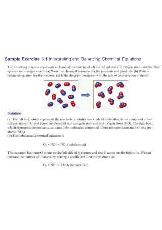 Interpreting and Balancing Chemical Equations