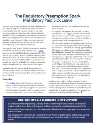 Mandatory Foundation Leave Template