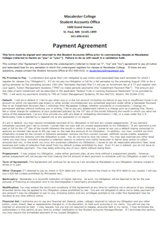Office Payment Plan Agreement