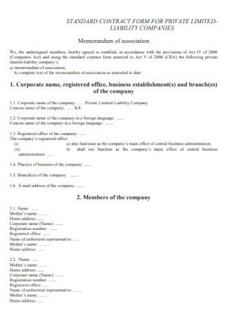 Private Company Contract Template