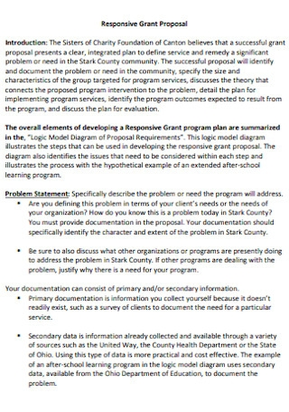 Responsive Grant Proposal Template
