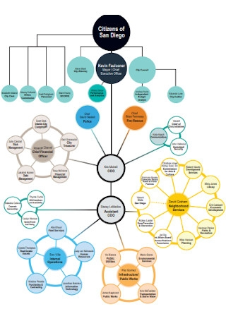 Sample Circular Organizational Chart Template