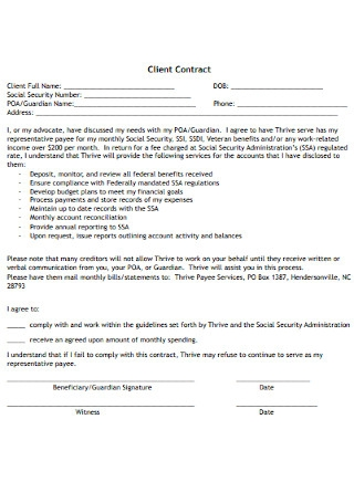 Sample Client Contract Template