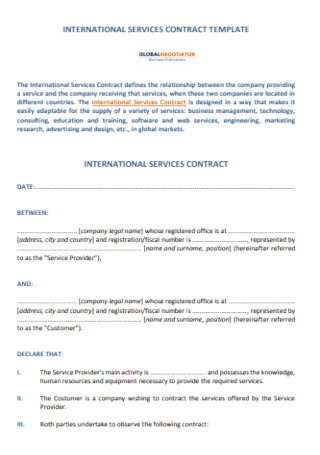 Sample Company Contract Template