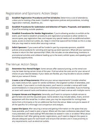 Sample Cortporate Event Planning Checklist