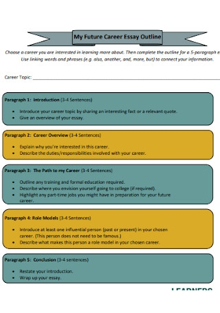 Sample Future Career Essay Outline