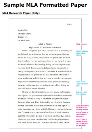 Sample MLA Formatted Paper Template