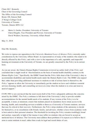 Sample Mandatory Leave Letter