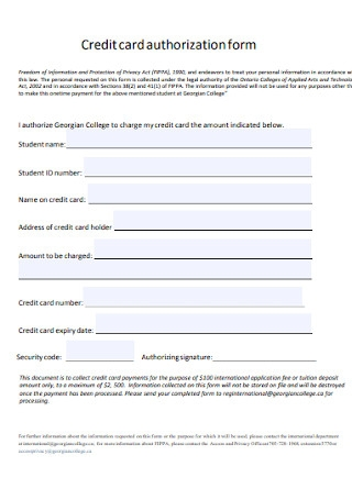 Sample Office Credit Card Authorization Letter