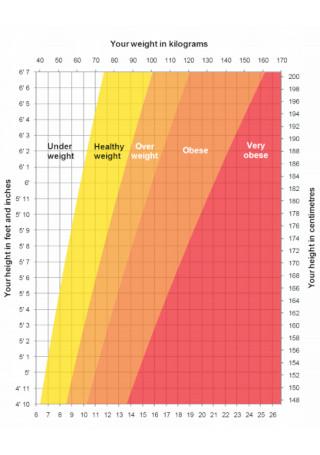 Sample Weight in Kilogram Chart Template