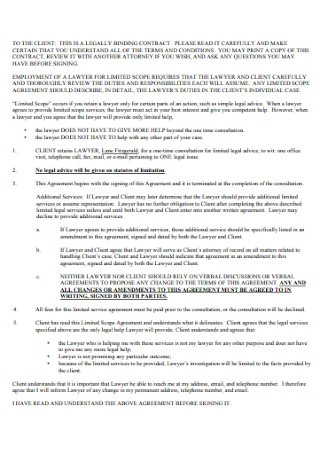Simple Binding Contract Template