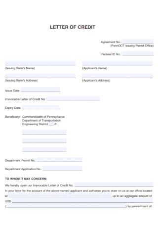 Simple Demand Credit Letter Template