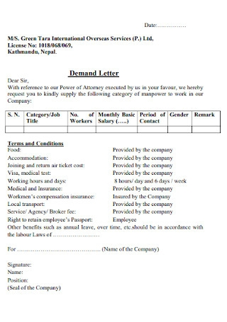 Simple Final Demand Letter