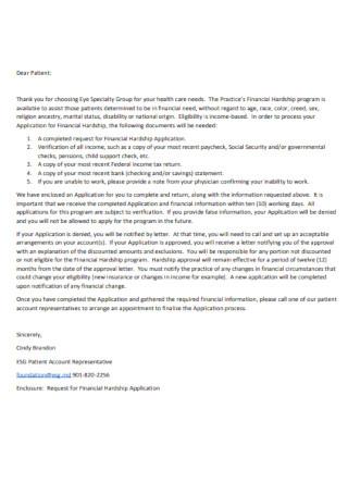 Standard Hardship Letter Template
