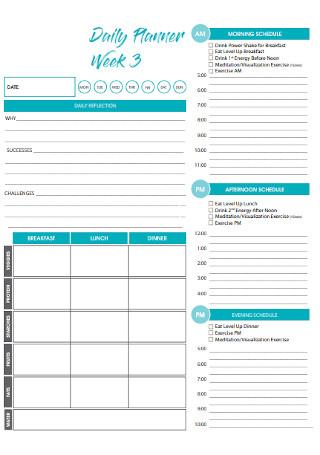 Week Daily Planner Template