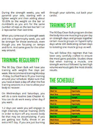Workout Schedule Log