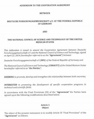 Addendum to Coorporation Agreement