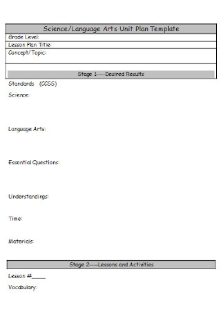 Arts Unit Plan Template