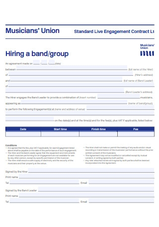 Band Group Contract