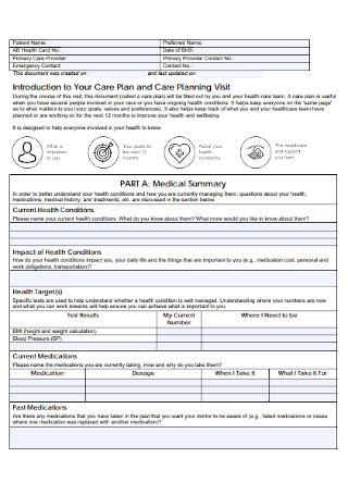 Basic Care Plan Template