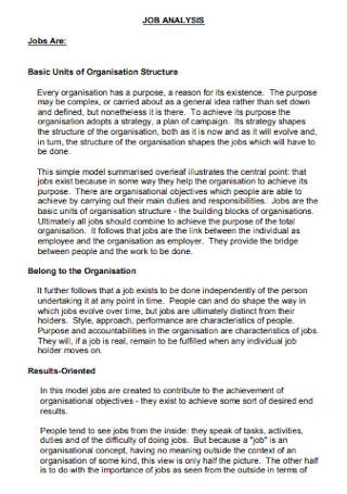 Basic Job Analysis Template
