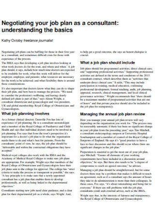 Basic Job Plan Template