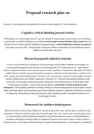 Basic Proposal Research Plan