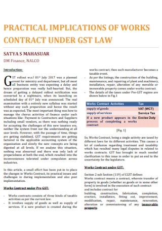 Basic Work Contract Template