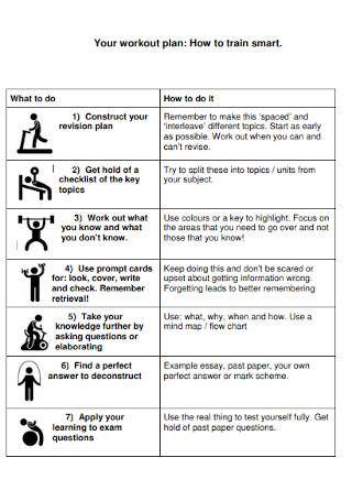 Basic Workout Plan Template