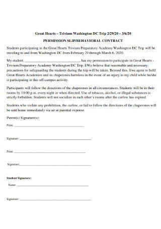 Behavior Permission Contract